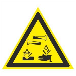 Опасно. Едкие и корозионные вещества